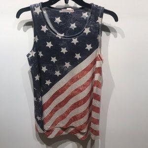 American Flag Vintage Tank